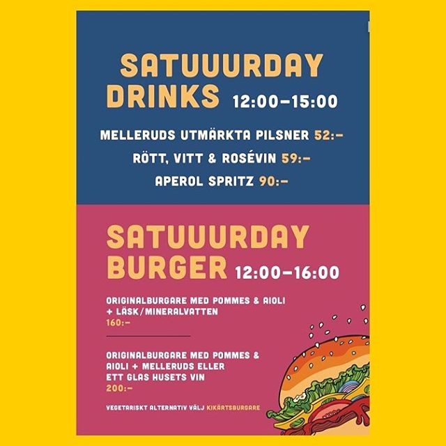 BUUURGARLUNCH! Say What 🍔🍺🍹 #ohyeah #burger #beers #linköping #maltochhumle