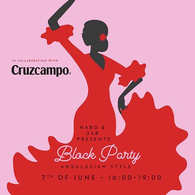 """Det här blev ju en hit så vi fortsätter på temat """"blockparty after work"""" där vi knyter ihop Nabo & 34b. Och denna fredag i Andalusiskt anda.  Grymma ölen Cruzcampo står bakom spektaklet och vi säljer den för endast 45 kronor samt att vi bjuder på till alla gäster på en grym andalusiskt gazpacho.  Så kom och häng med oss även denna fredag! Det blir soft... Tack Cruzcampo!  Salut. //Nabo & 34b"""