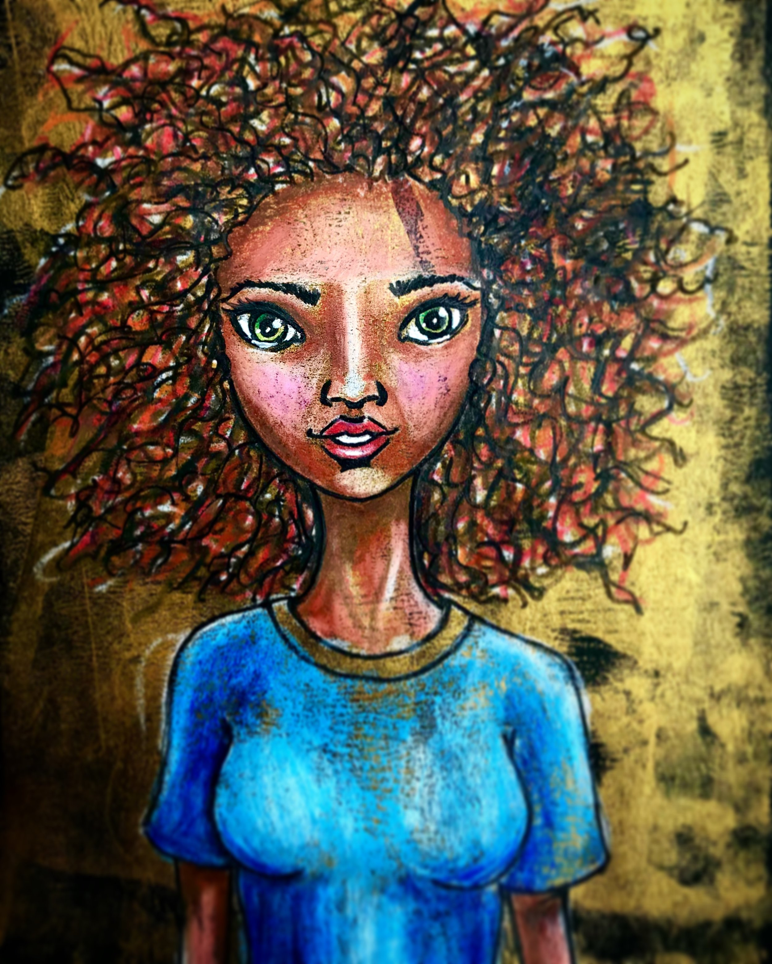 Mixed Media Girl - Drawing on Paper