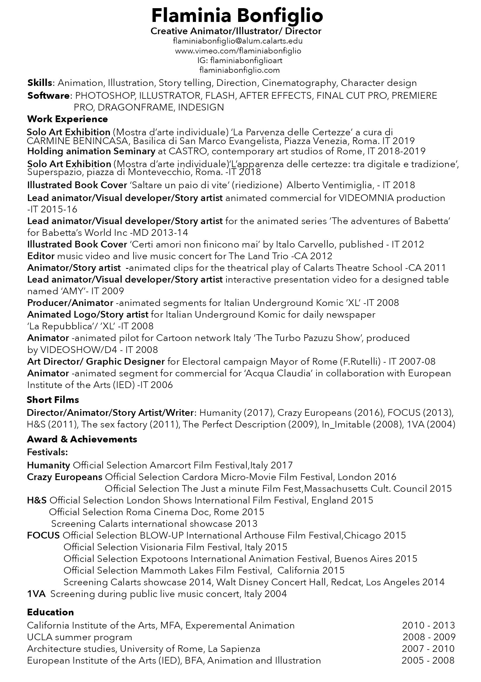 Resume 2019
