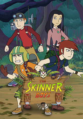 THE SKINNER BOYS - (Series 1 & 2)The fate of the world now lies in the hands of three young teens. The Skinner Boys: Guardians of the Lost Secrets are sworn to protect the world's most hidden mysteries. Because when it comes to young heroes, three heads are better than one.Created by Steve Lyons.Year 2016Duration 26 x 24 minsProduction Partners SLR Productions, Nine Network Australia, Telegael, Super RTL, ZDFGenre Comedy Adventure for 6-10 year olds