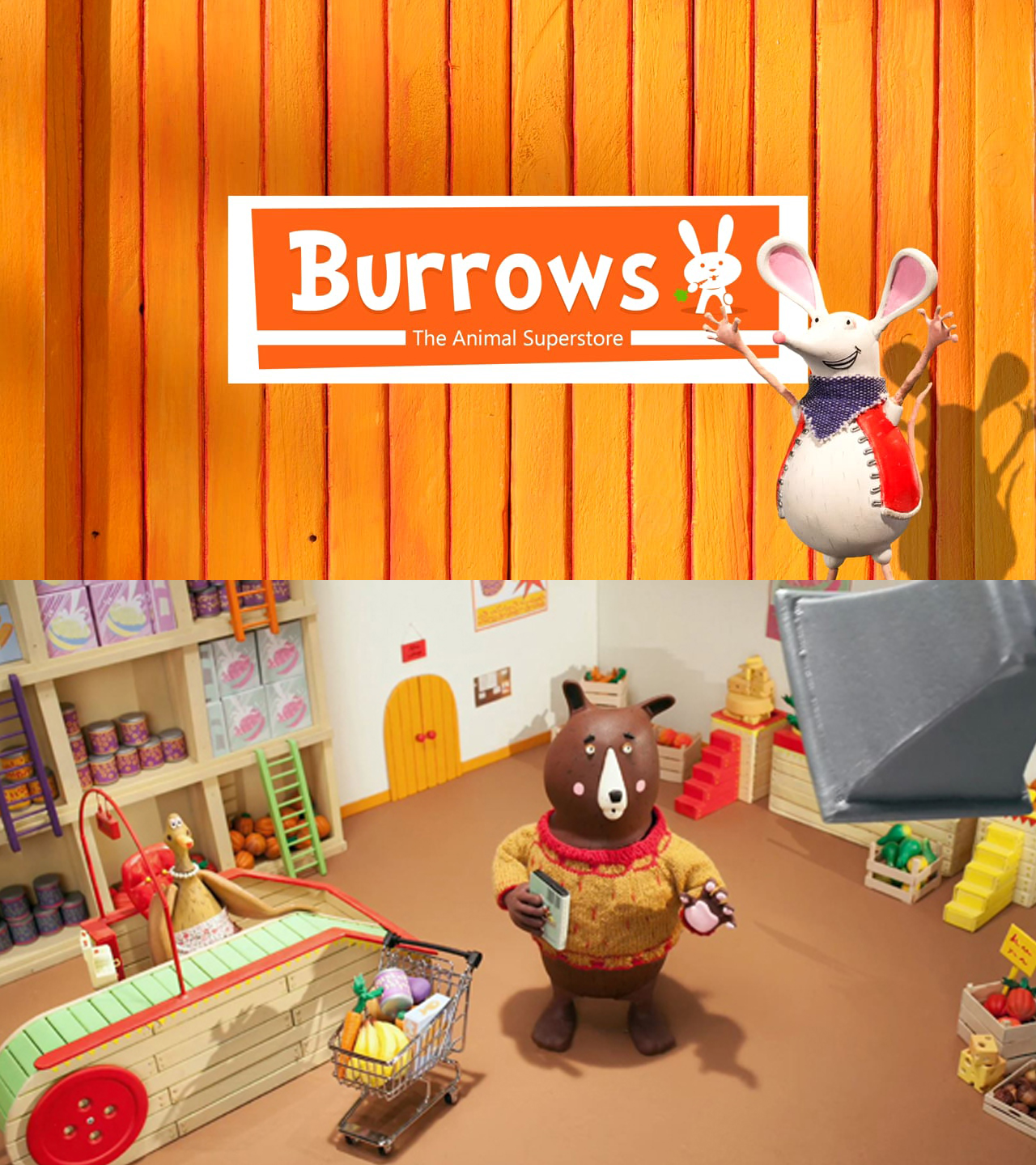 "BURROWS - (In Production)Your attention please… (Quack!) Here are the morning announcements with Mrs Duck:""Welcome to Burrows - the down-to-earth shopping experience.  The current edition of KidScreen Magazine has selected Telegael's BURROWS as one of seven ""prime projects"