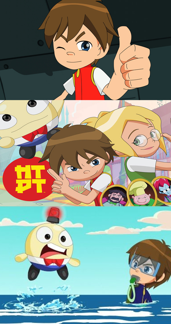 HTDT - HTDT is an anime inspired action comedy for 6-11 year olds filled with familiar faces. When all the King's horses and all the King's men couldn't put Humpty Dumpty back together again they turned to Dr. Kizami Miyazaki, the King's top bio-nuclear scientist. Combining Hydrogen, the lightest element with Bombinium, the heaviest, Dr. Miyazaki was able to construct a polymer matrix to bind Humpty's pieces back together again. A highly powerful, yet extremely unstable force field was created, infusing Humpty Dumpty with awesome superpowers. The radiation caused a realignment of Humpty Dumpty's genetic molecular structure causing him to be possessed of both extreme mass and incredible weightlessness. Now known simply as HTDT and with the help of Dr. Miyazaki's 10-year-old son Axel and his babysitter, the beautiful assistant librarian and teen pop star, Arisa, he battles the forces of evil that regularly threaten the kingdom of Happily Ever After.Year 2015Duration 52 x 11