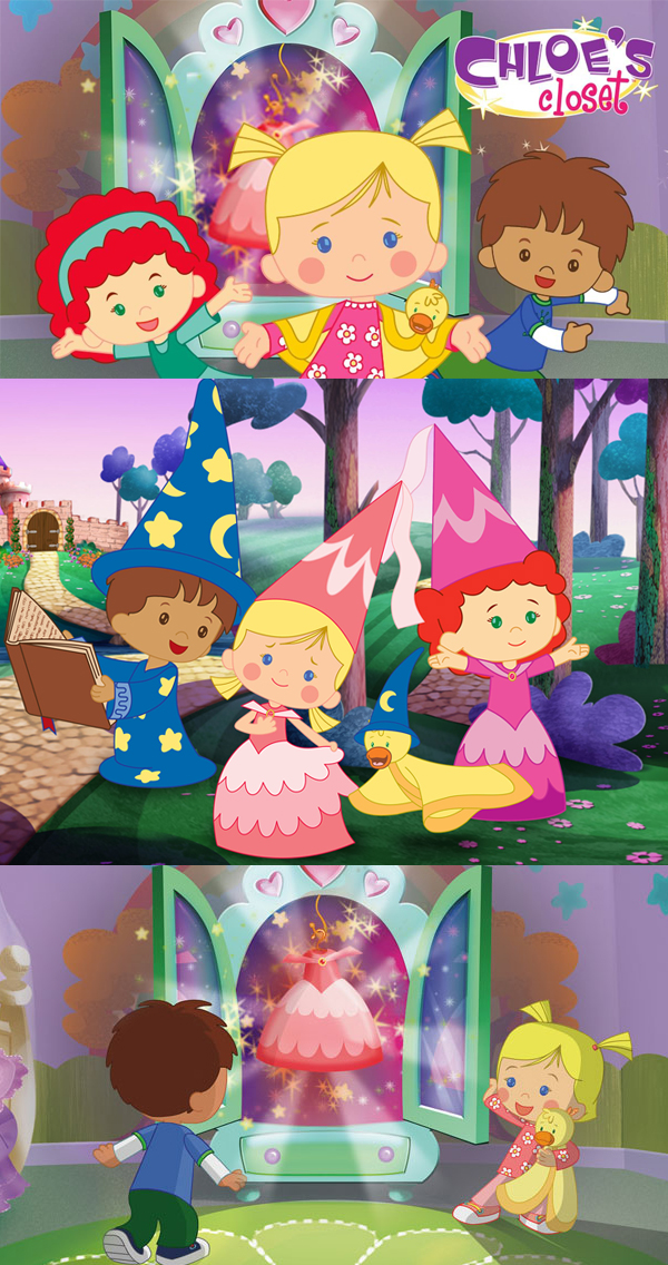 CHLOES CLOSET - (Series 2)Year 2012Duration 52 x 11 minutesExecutive Producer Paul Cummins, Mike Young, Liz Young, Nicolas AtlanProducer Siobhán Ní GhadhraDirector Bob DoucetteProduction Partners Telegael, MoonscoopGenre Animation