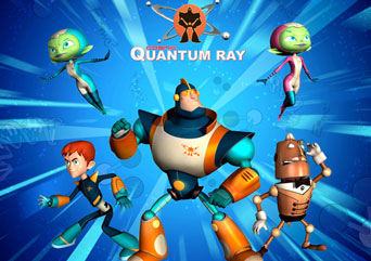 COSMIC QUANTUM RAY - Featuring the latest advances in CGI animation, this zany comedy-action-adventure series brings the strange, dark, freaky corners of the universe to the world of Earth teenager Robbie Shipton. Robbie represents Earth as a member of Team Quantum - an elite, eccentric team of intergalactic heroes that saves the Universe almost every day.Year 2007-2009Duration 26 x 26 minutesExecutive Producer Paul Cummins, Mike Young, Bill Schultz, Liz Young, Sebastian Debertin and Marc Gabizon.Producer Siobhán Ní Ghadhra, Peter Anderson, Andrew Young, Pamela Hickey and Dennys McCoy.Director Andrew Young, Arnaud Bouron and Jl Hoon SonGenre 6 years +