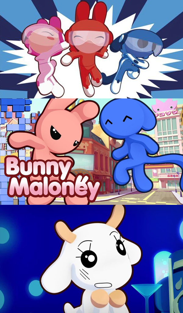 BUNNY MALONEY - Amidst the neon signs and the pulsing rhythms of Bunnyville, you will find four very unlikely friends: Bunny Maloney, Candy Bunny, Jean-François and Stan Ookie. At their worst, they are a conflicted band of self-absorbed neurotics. At their best, they are the self-appointed Superhero Crime Fighters of PROTECTEAM who combat the daily diabolical threats of the evil scientist Professor Débilouman. On any given day, you can expect PROTECTEAM to engage in a great battle...whether it be a rip-roaring argument between Bunny and Candy...a vigorous game of Bust-a-para-dance with their alien roommate Jean-François...a heated debate with the genius Japanese badger gadget-inventor Stan Ookie...or a wildly destructive rampage across Bunnyville to battle a Mecha monster created by their nemesis Professor Débilouman!Year 2007-2009Duration 52 x 12 minuteCo-Production Telegael and France AnimationGenre Animation seriesDistribution Taffy EntertainmentBroadcaster France 3