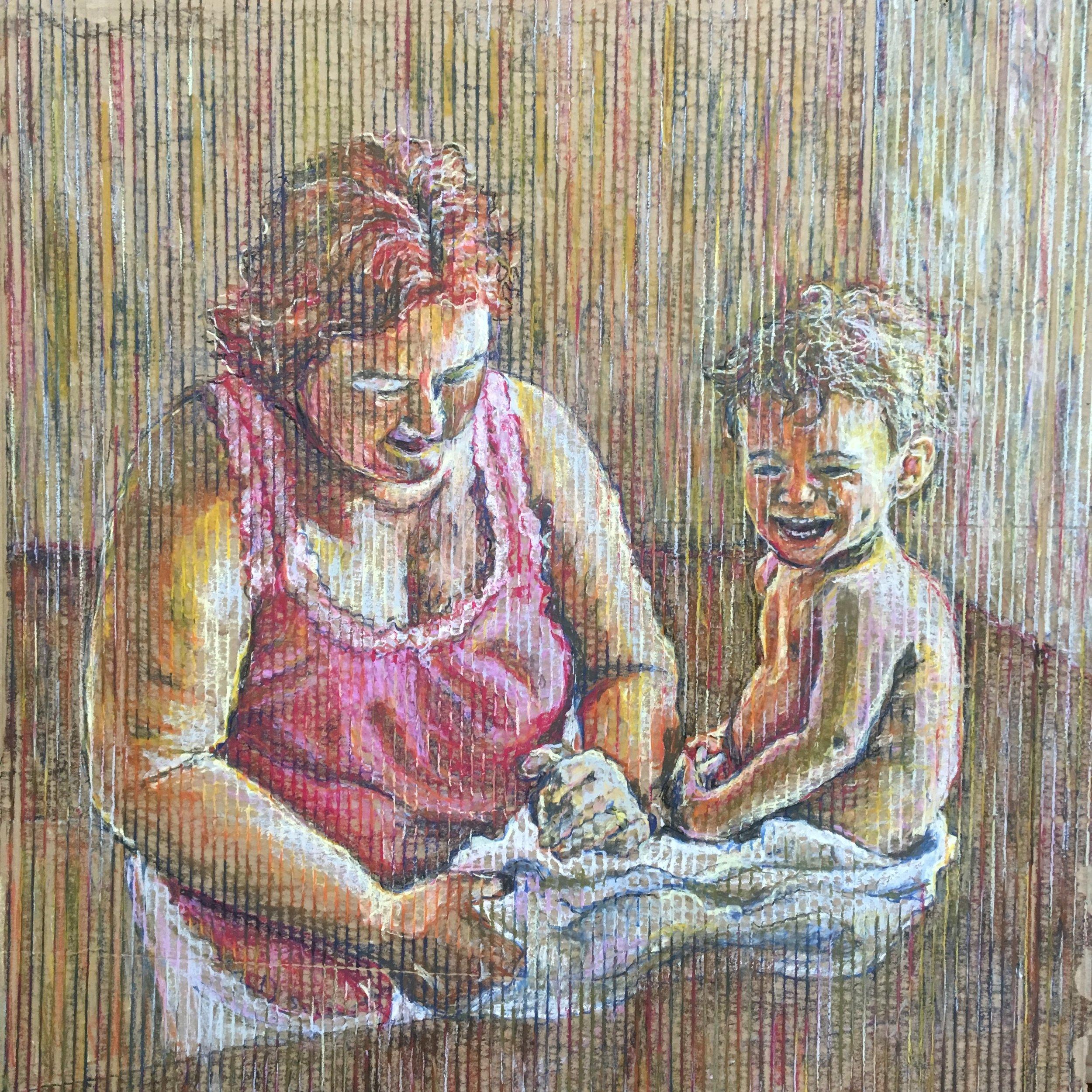 Nanny and finally drawing.JPG