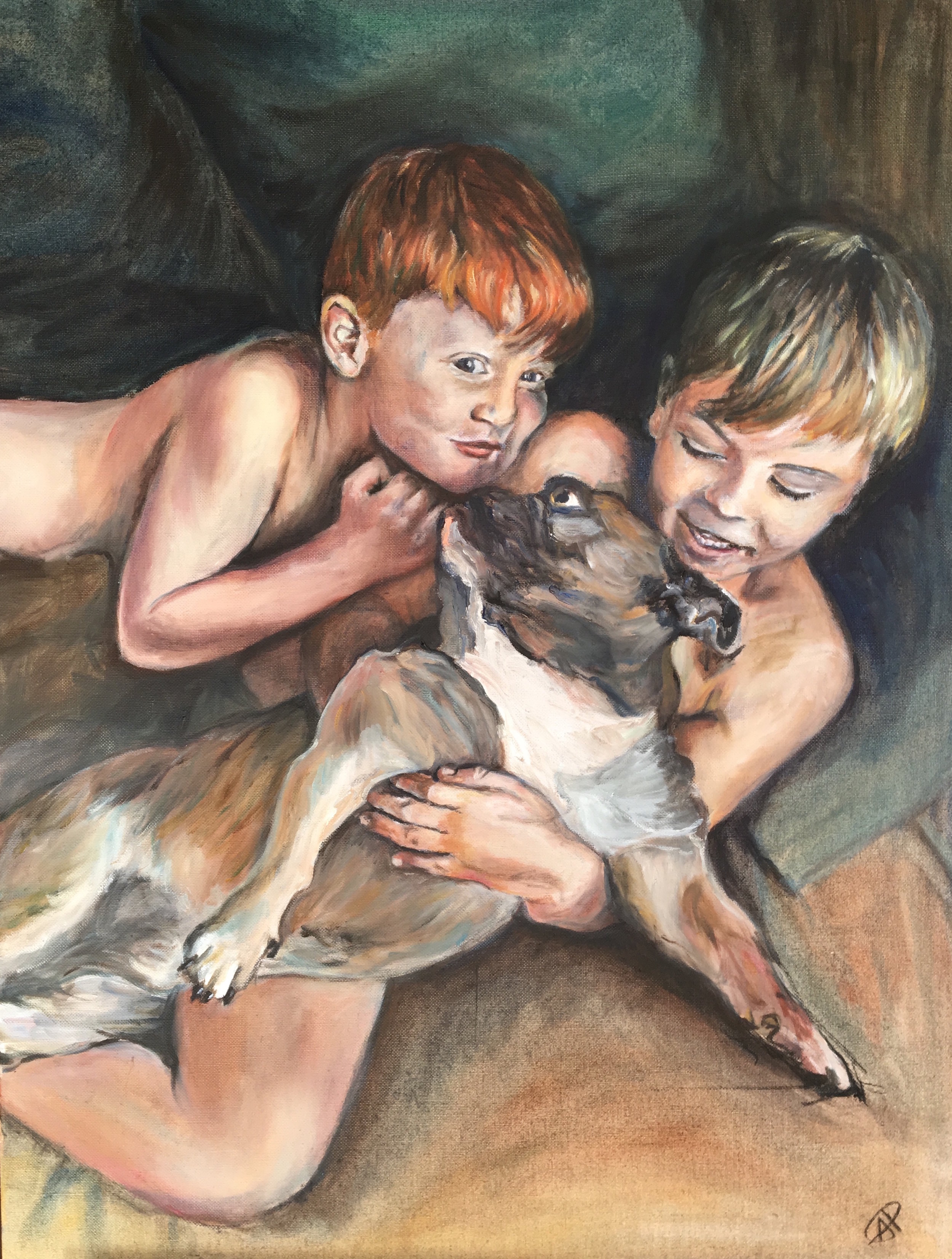 Barker boys and Buddy by Alice Parsloe.jpg