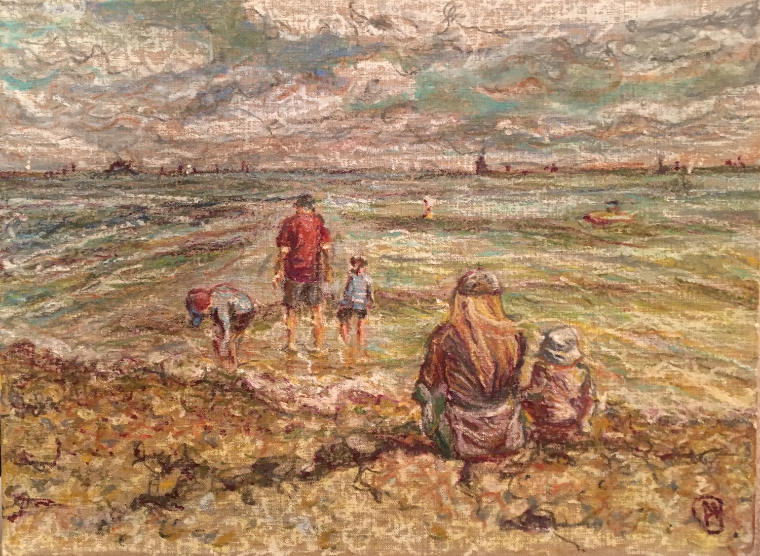 Paddling at the Duver by Alice Parsloe