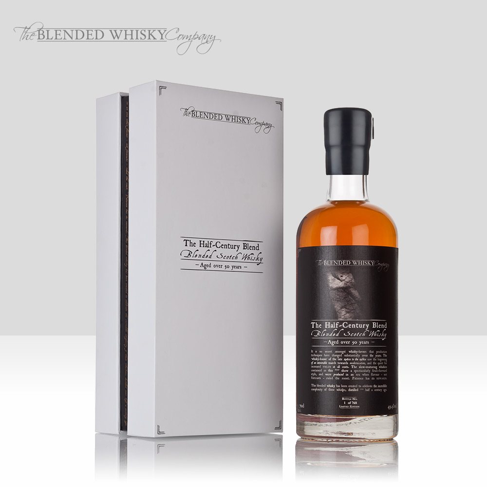 The Blended Whisky Company   Bringing small batch blended whiskies including The Half-Century and Lost Distilleries Blends, to true connoisseurs around the world. Winner of multiple global awards including the world's best blended whisky.