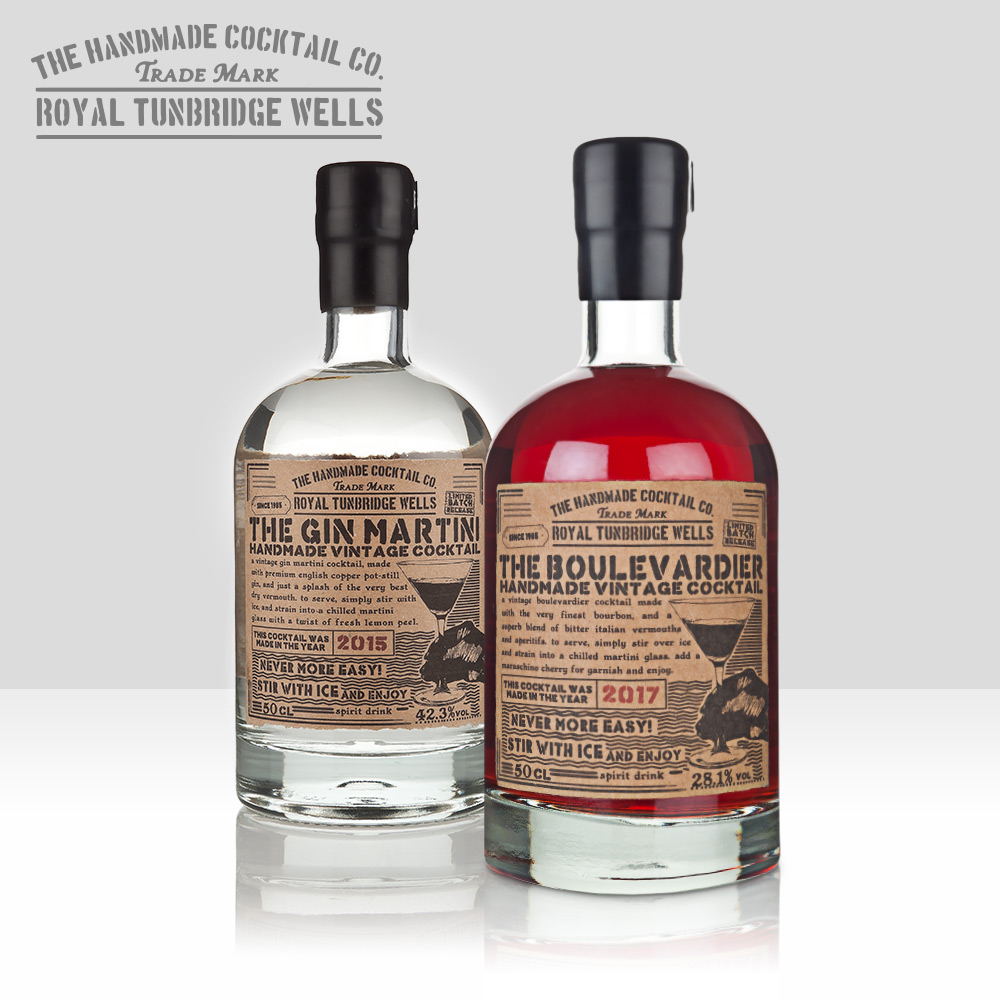 """Handmade Cocktail Company   Voted """"World's Best Premix"""" every year since 2015, HMCC offers the cocktail bar experience at home with classics such as the Negroni, Old Fashioned and Gin Martini in beautiful 50cl bottles   Find out more here…"""