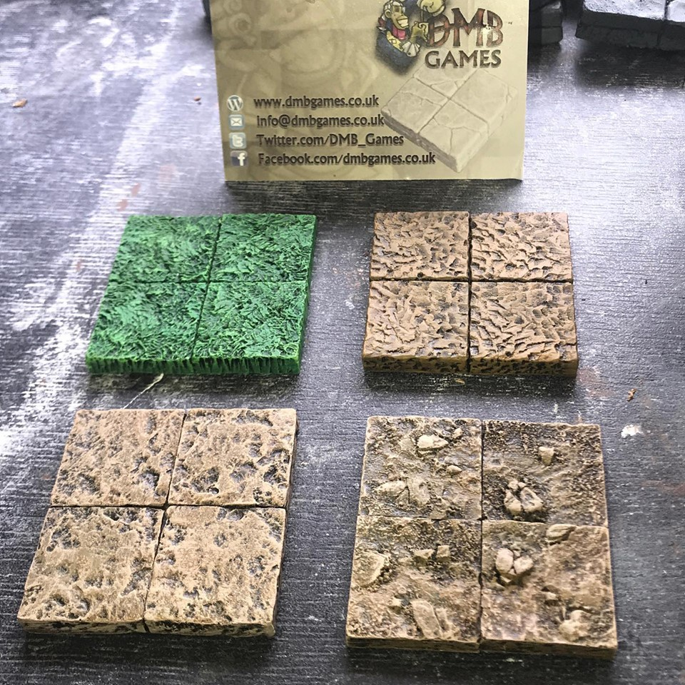 New Wilderness Floor Tiles Release announced for Tabletop Scotland  - Grass, Mud, Stone and Dirt and Rock Floor Styles will be available in 2x2, 2x4 and 4x4 Floor Sizes