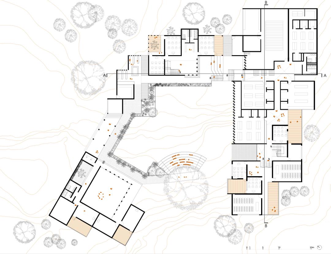 Master Plan showing circulation