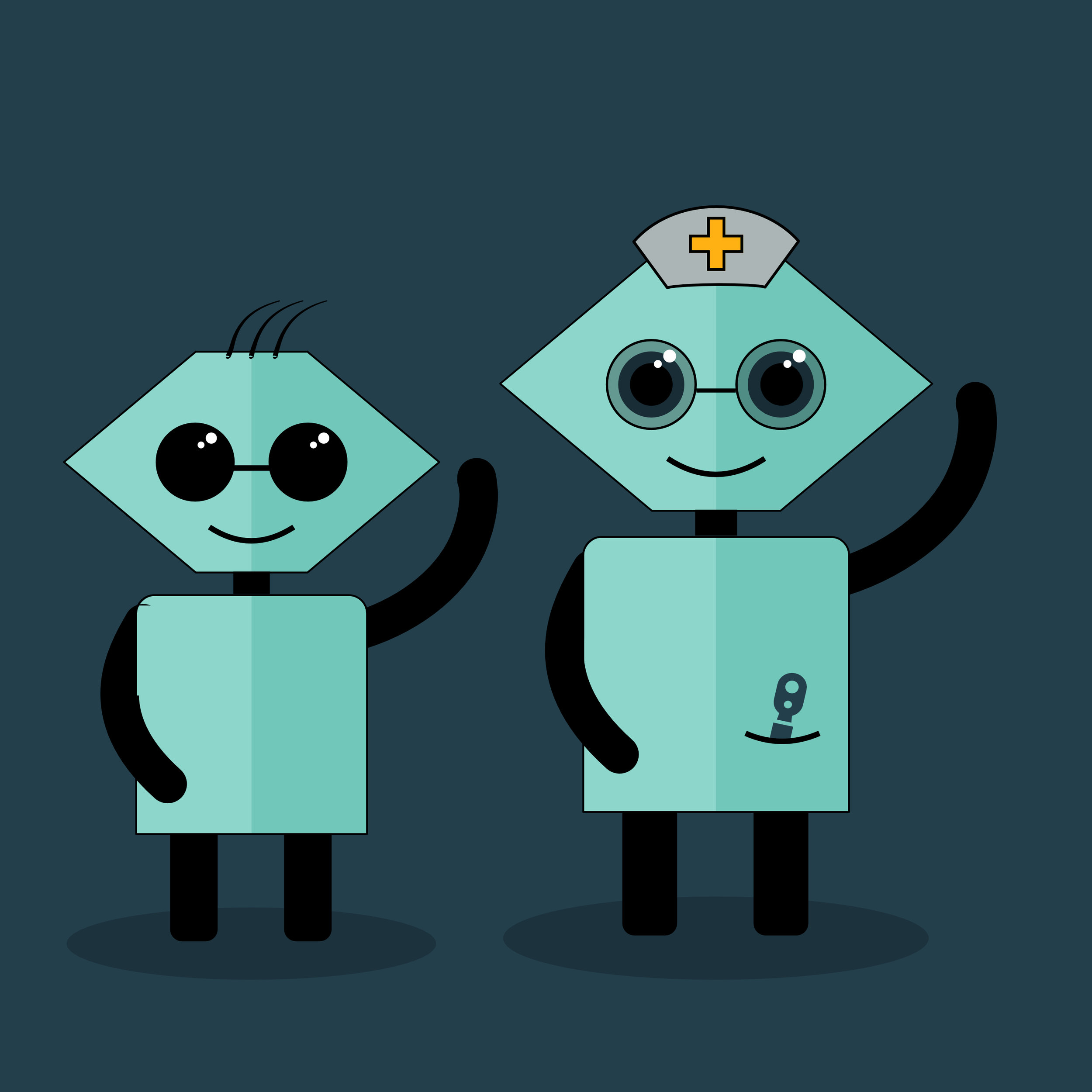 Character design done for an eye care chatbot,Adobe Illustrator