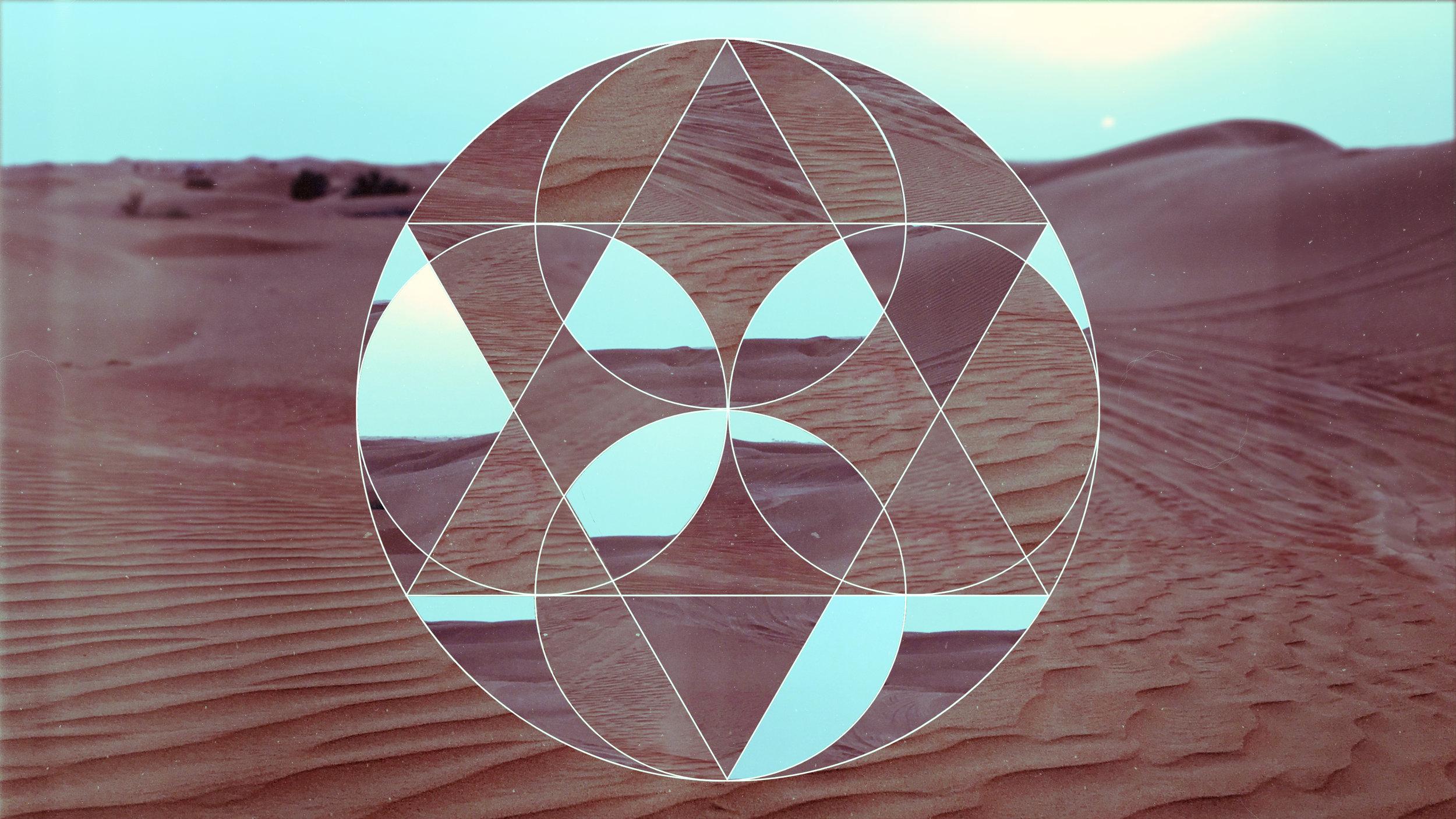 Geometric collage done on a photo I took, Adobe Illustrator