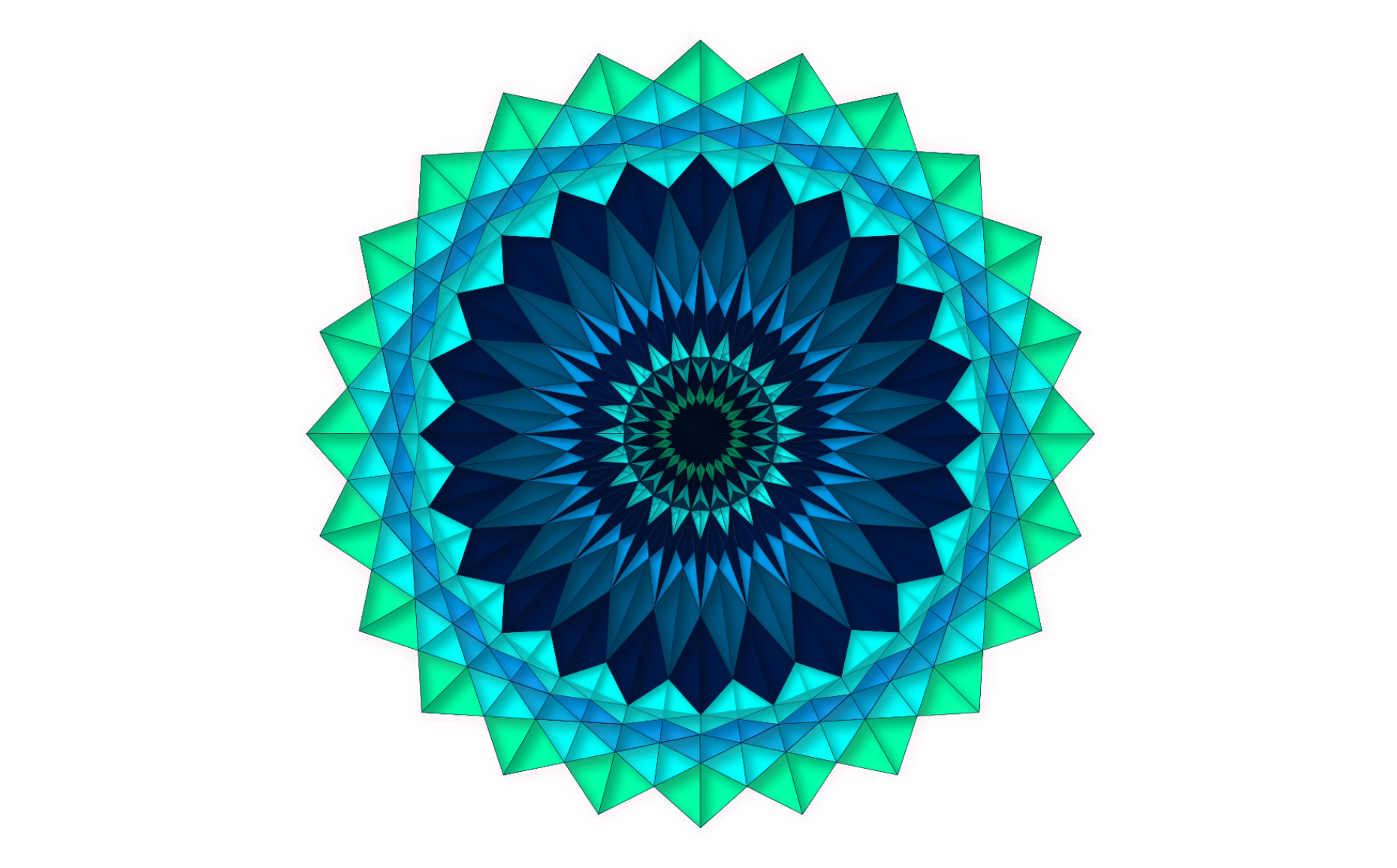 Vector art exploring   symmetry and color,Adobe Illustrator