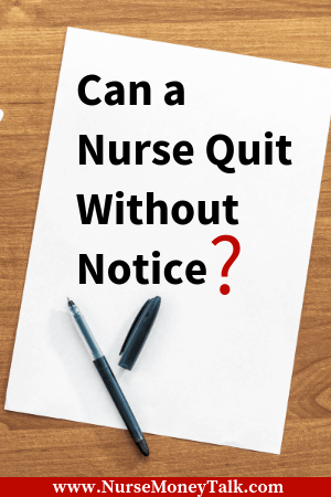 This article is going to cover what could happen if a nurse quits their job without giving proper 2 week notice. #nursingcareer