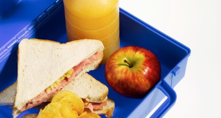 a nurse lunch box full of food