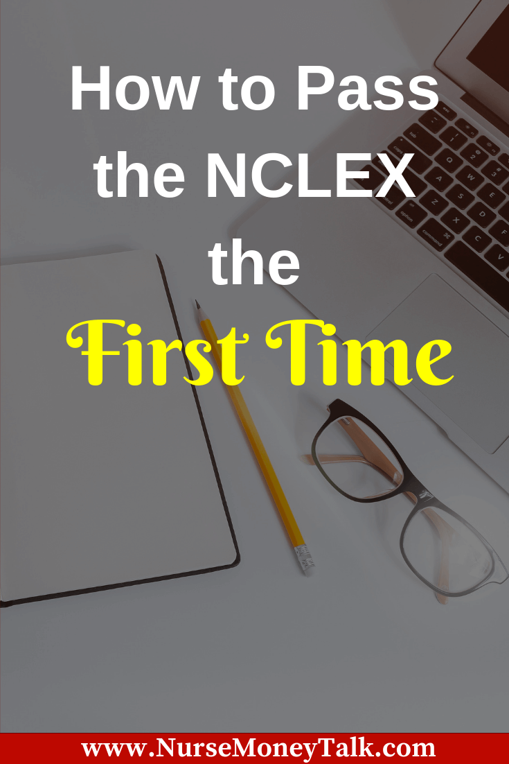 Do you want to know how to pass the NCLEX the first time? We've got you covered with our favorite tips for success. #nclex #nursingstudent