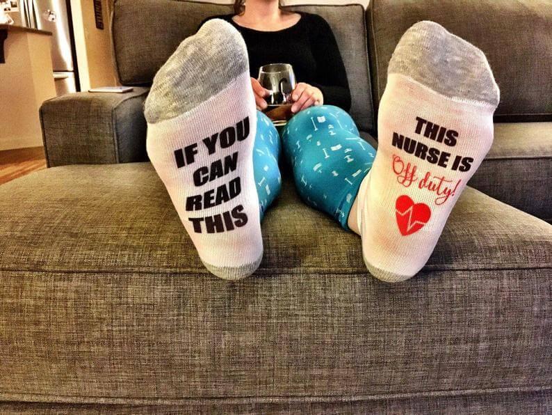 Fun socks to give a nurse for Christmas