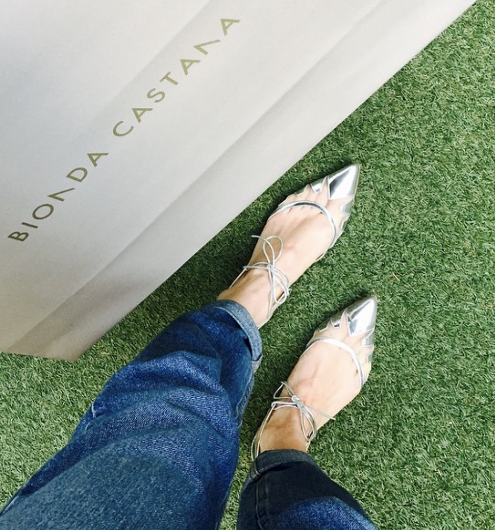 @ charlie_brear   Happy feet ... Hurry hurry get yours before they are gone! Denni flat in silver  @biondacastana   #girlinbc  ❤️