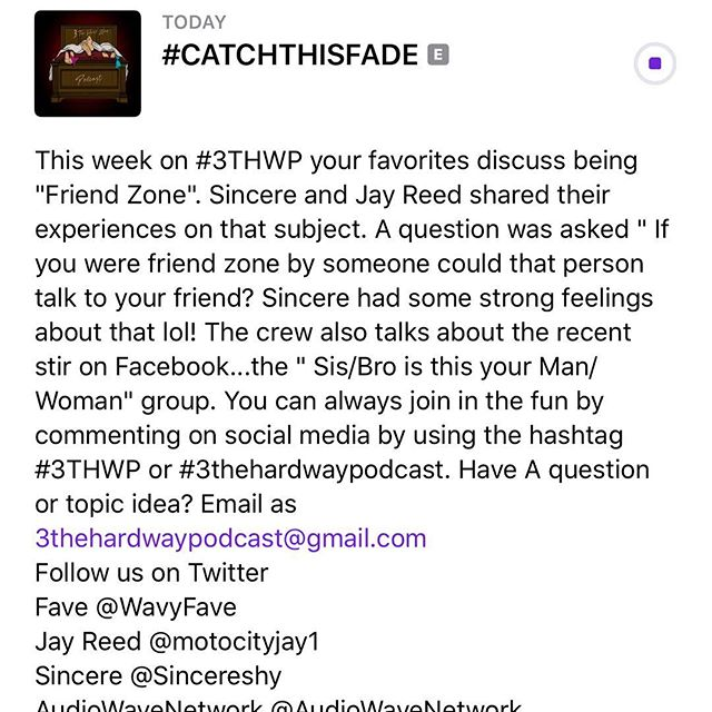 👏🏾CATCH 👏🏾THIS 👏🏾FADE👏🏾 Check out our New Episode by Clicking the link in the bio. Also Join in the Fun by commenting using our hashtag #3THWP and screenshot while listening . Enjoy 😉! #detroit #podcast #podsincolor #michigan #audiowavenetwork #ridethewave 🌊