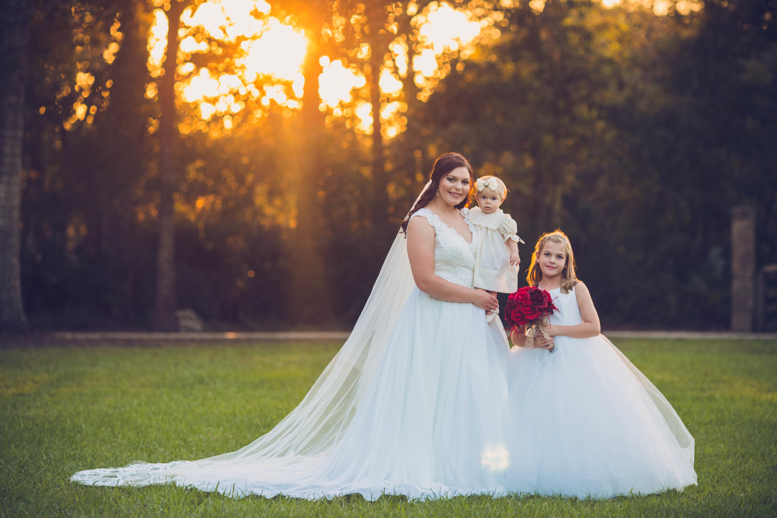 Bridal session with kids
