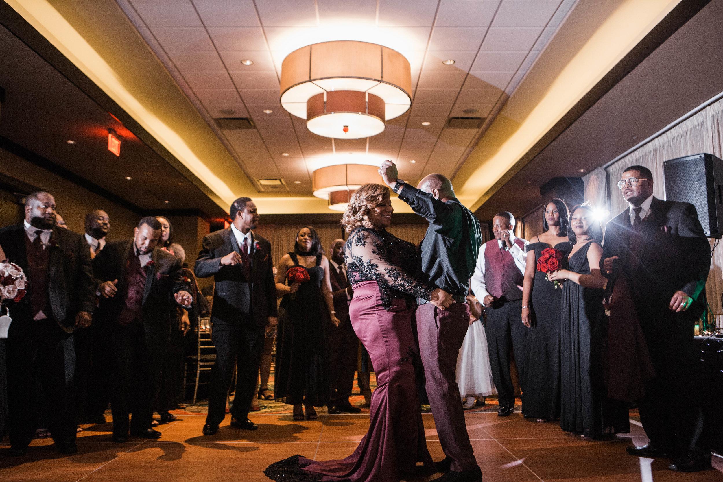 Wedding reception at Golden Nugget Lake Charles Hotel & Casino