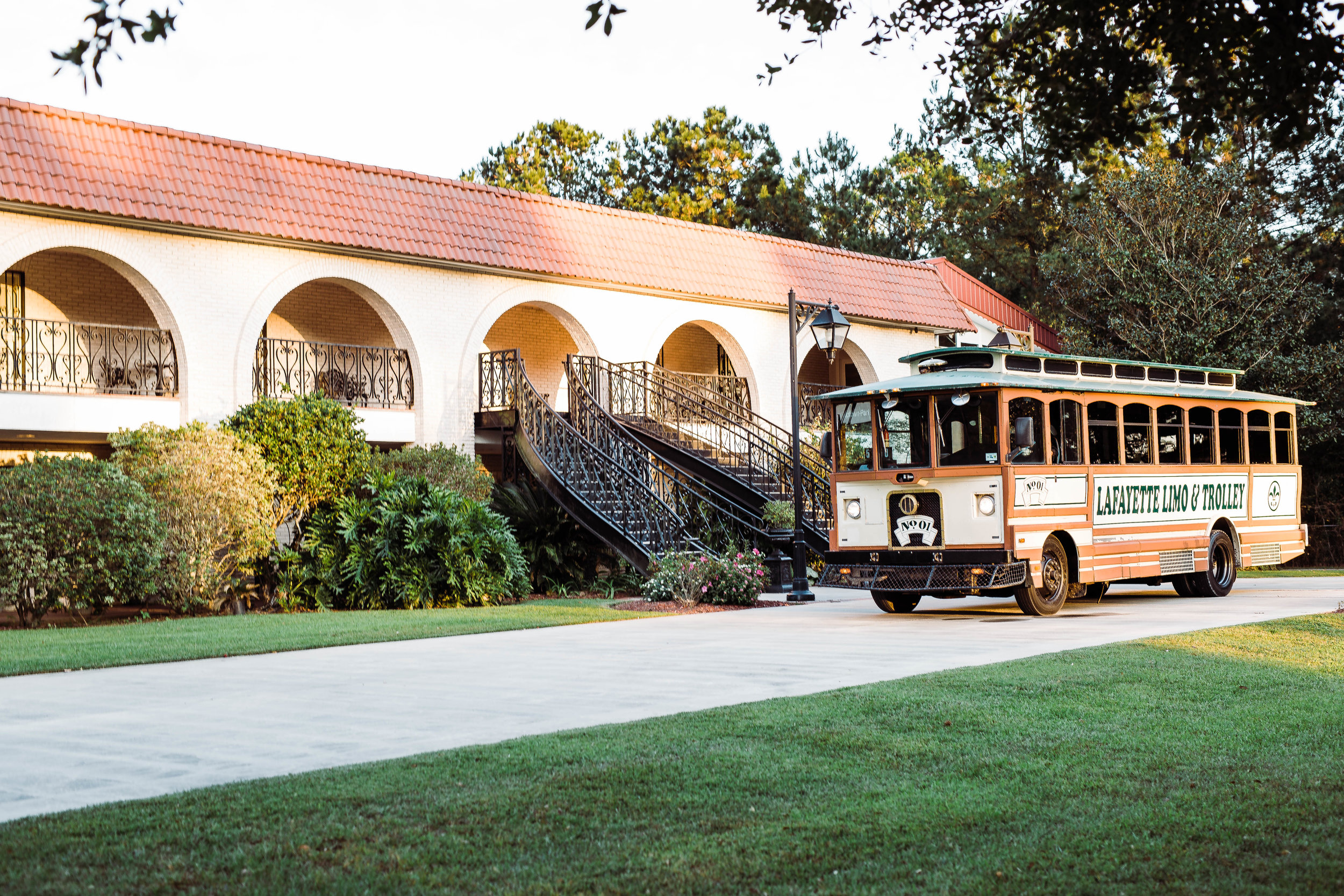 Lafayette trolley at Manor Facility