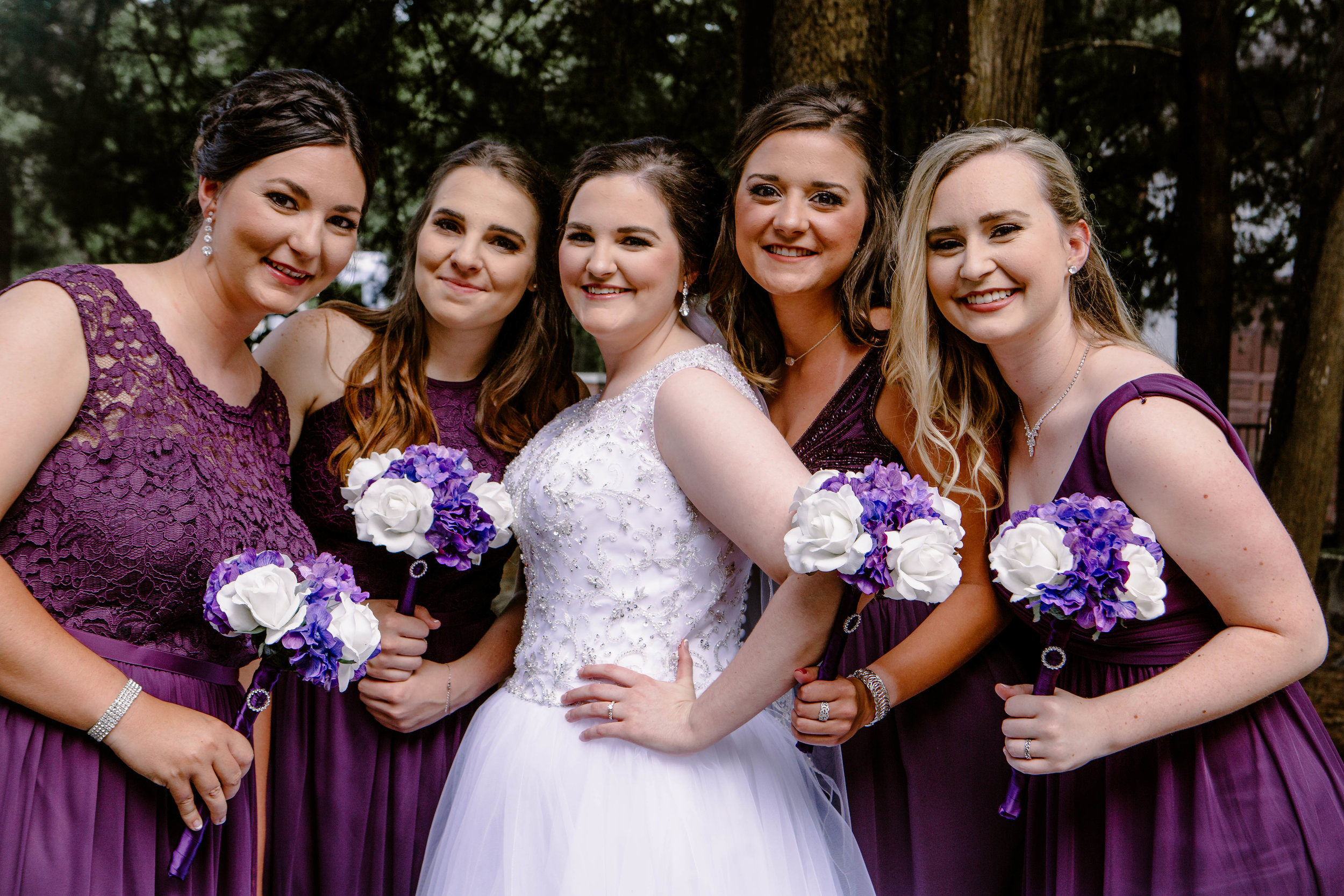 Bridesmaids at Point-aux-Loups Springs Ballroom