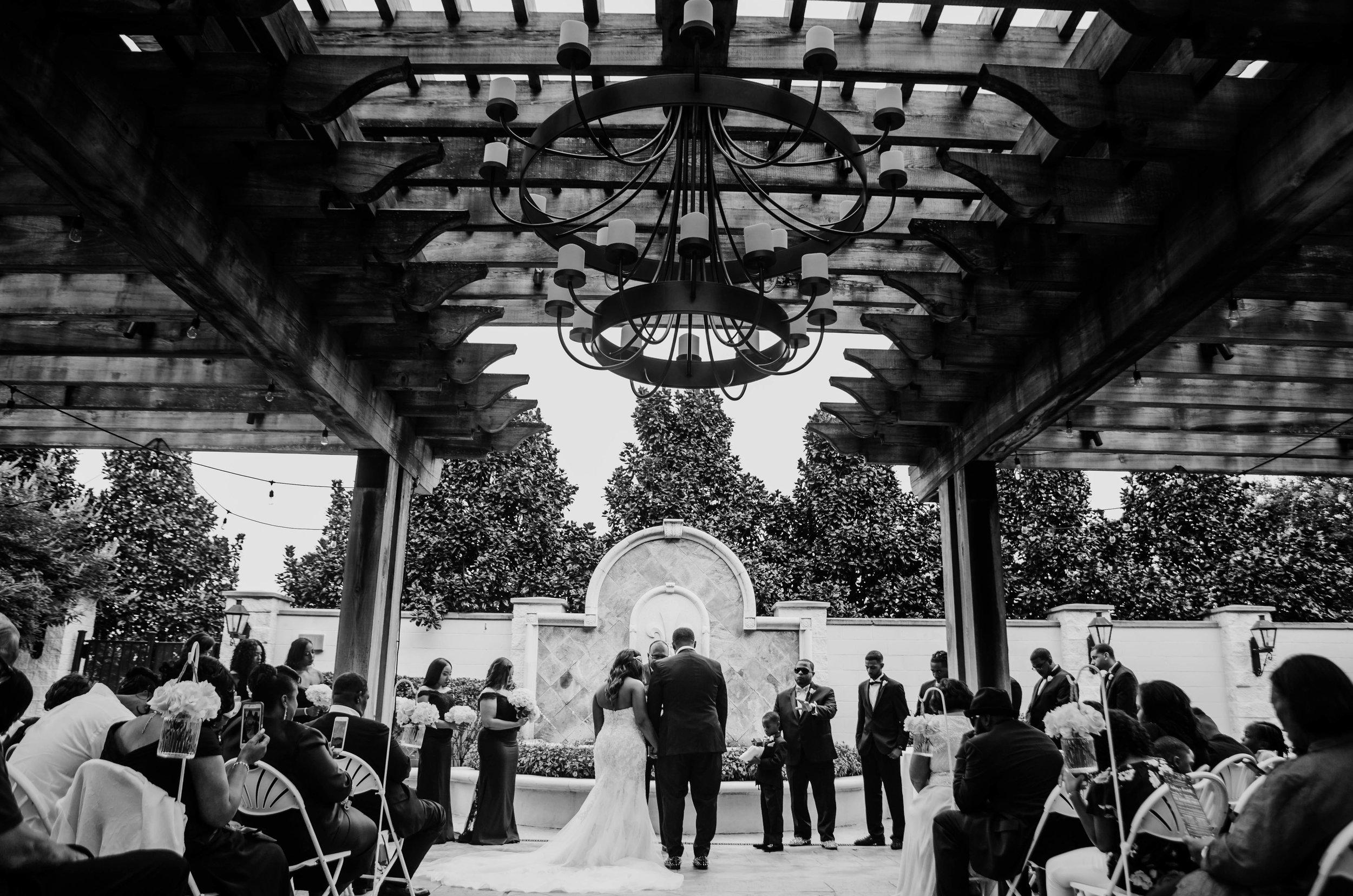 Wedding Ceremony at L'Auberge Casino Resort Lake Charles