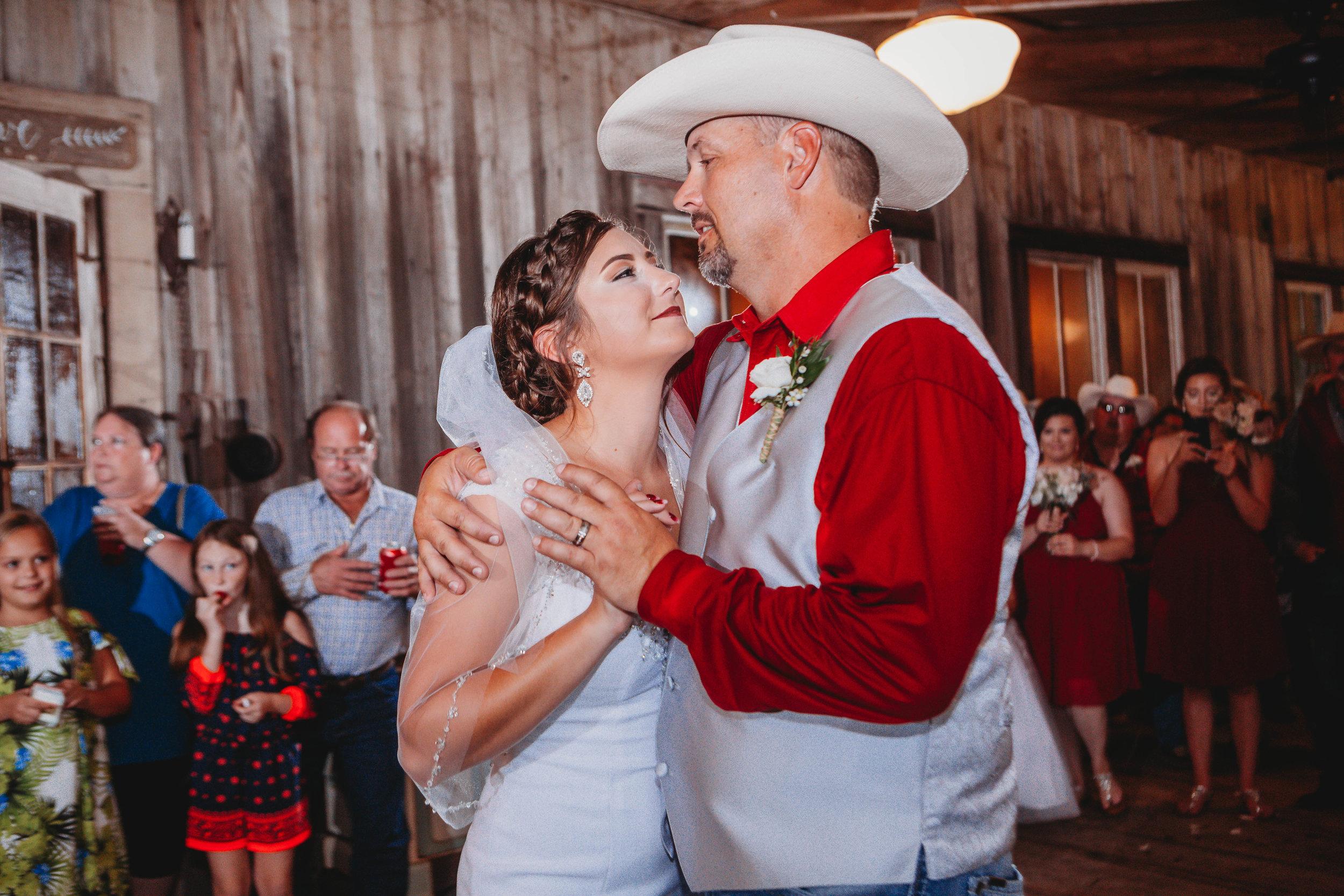 First Dance atCypress Grove Wedding Venue Eunice LA