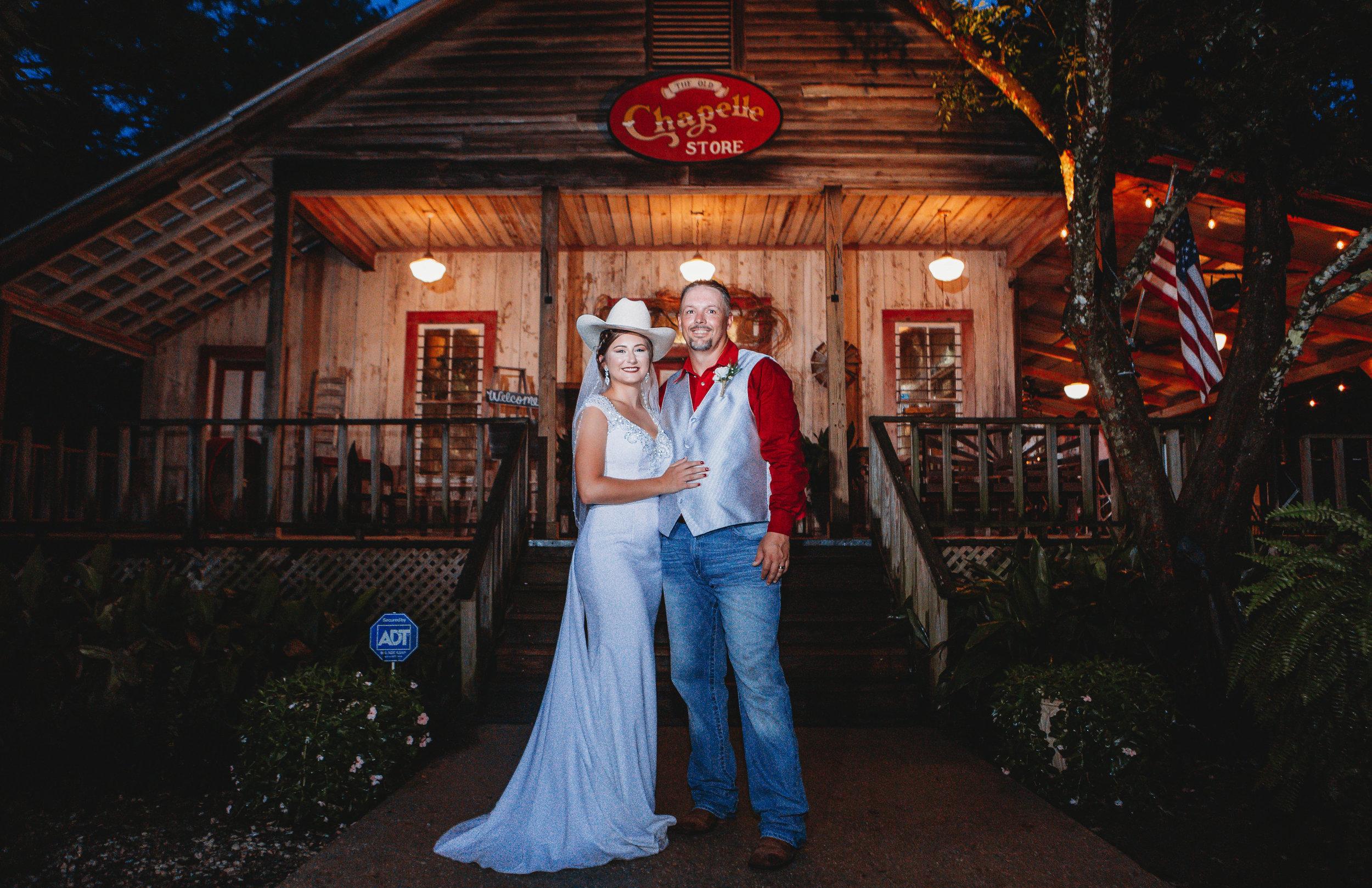 Bride and Groom Cypress Grove Wedding Venue Eunice LA