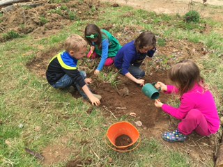 Springtime is planting time in the garden