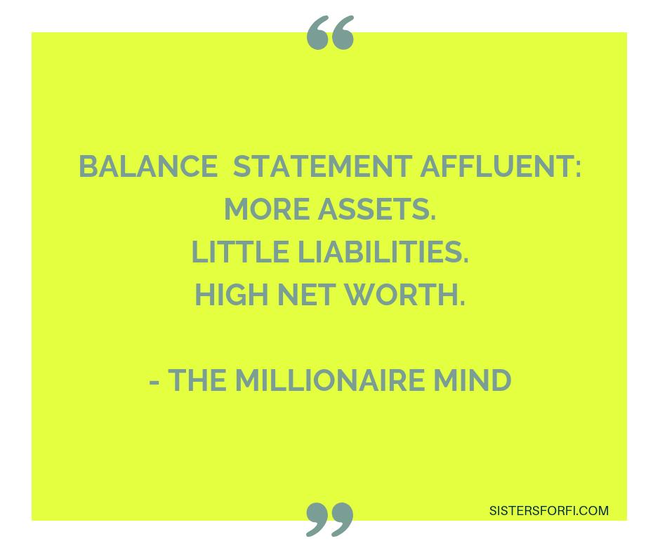 The Millionaire Mind - Balance Statement Affluent