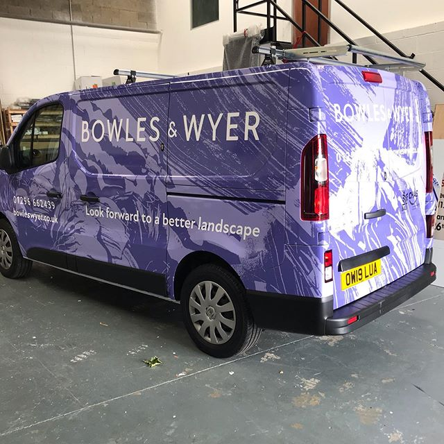 Another wrap just finished for #bowlesandwyer #vehiclewraps