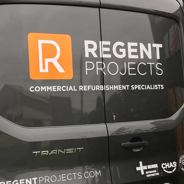 Another addition to regent projects fleet branding plus wrapped wing mirrors #manorsigns #vehiclegraphics