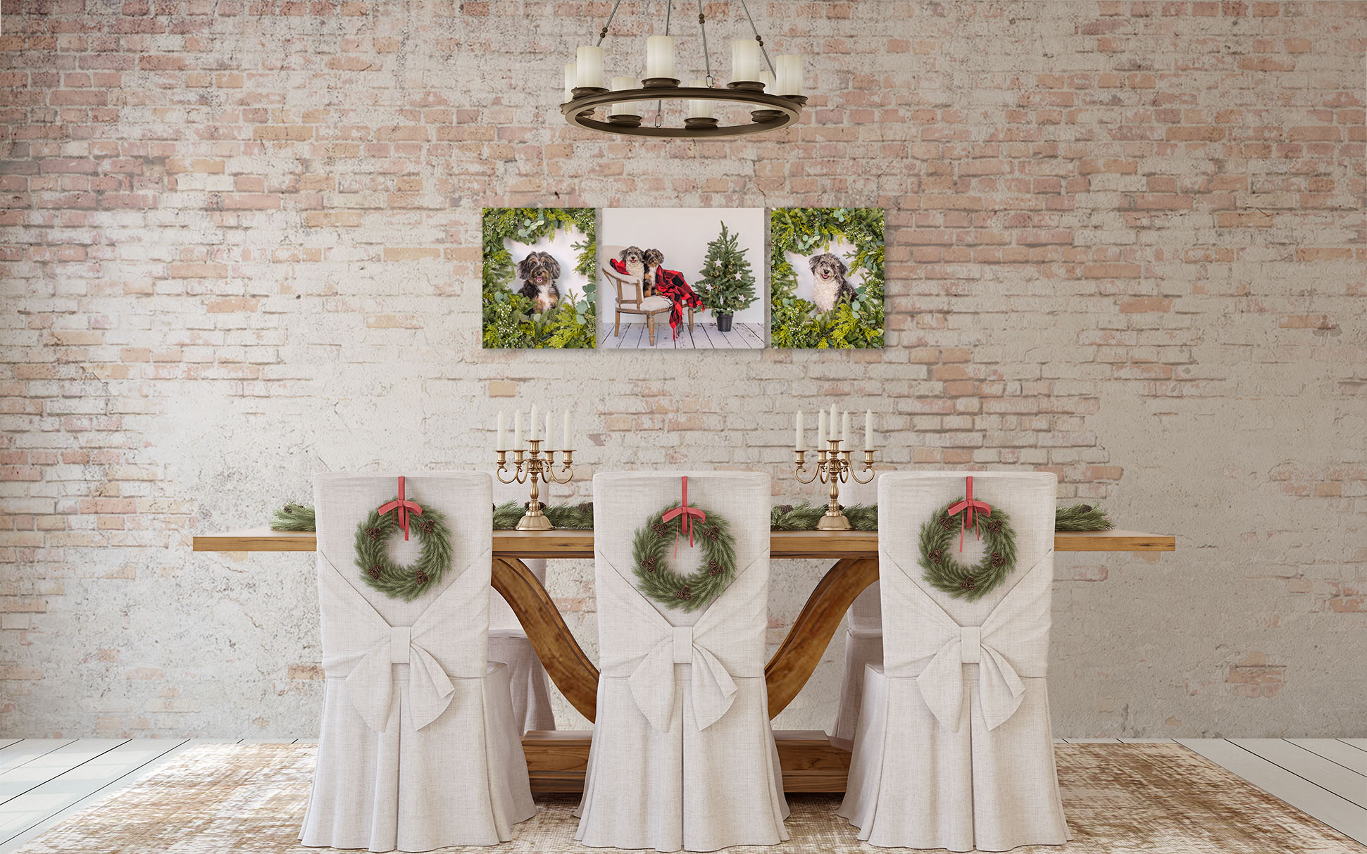 These holiday portraits will make any dinner more festive.
