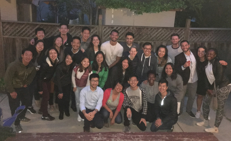 ASIAN-AMERICANS @ HAAS IS A NEW GROUP THAT'S GROWING QUICKLY — BUT FOR NOW, ALL OF ITS MEMBERS CAN FIT IN A PHOTO TOGETHER.