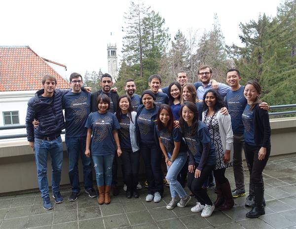 THE BERKELEY-HAAS TECH CLUB INCLUDES A LEADERSHIP TEAM (PICTURED HERE) THAT'S DEDICATED TO KEEPING THE GROUP'S MANY MEMBERS ACTIVE AND ENGAGED.