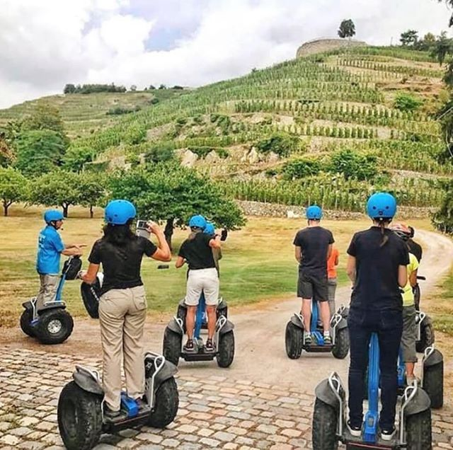 Around the globe, adventure awaits. 🌿 🍇 ・・・ 📷: Strolling by #segway between vineyards and villages in the heart of the Auvergne-Rhône-Alpes region with @mobilboard_fr!