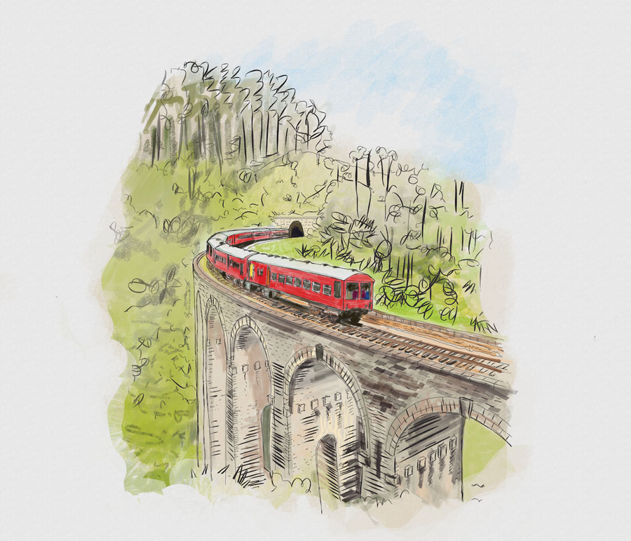 Above: Nine Arches Bridge (as seen in our new    Cocotails menu   )