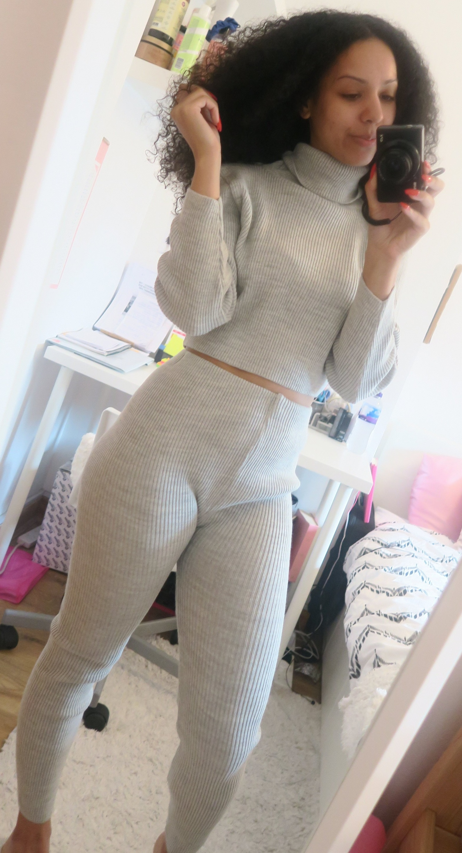 Knit grey co-ord