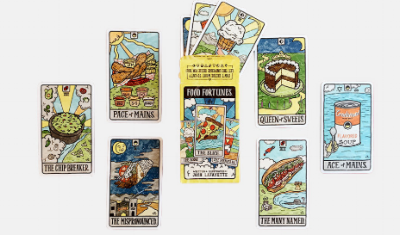 Food Fortunes  - Let this tarot deck decide what you two can have for dinner.
