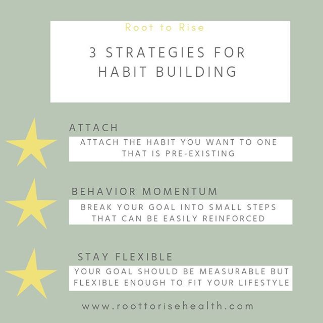 👏🏻behavior👏🏻that's what it's all about over here. building habits to feel your absolute best! crowding out the noise and the bs. tuning into your body. k but how...?? ⭐️attach new habits to old ones- meditate after your morning shower, meal prep after sunday grocery shopping, do your quick morning yoga routine after brushing your teeth. ⭐️build behavior momentum - set yourself up for success and meet yourself where you're at. want to start a new gym routine? How about 2-3x/week instead of shooting for every day. this makes it more achievable and therefore, reinforcing which will make you want to continue without overwhelm. ⭐️stay flexible - restriction sucks. allow yourself flexibility, whether it's with food, exercise,  or anything in between.  unpopular opinion: eat the burger! skip the gym day! otherwise, you'll make yourself cray. ✨this one can be tricky but i gotchu! 👉🏻book your *free* discovery call through the link in my bio!