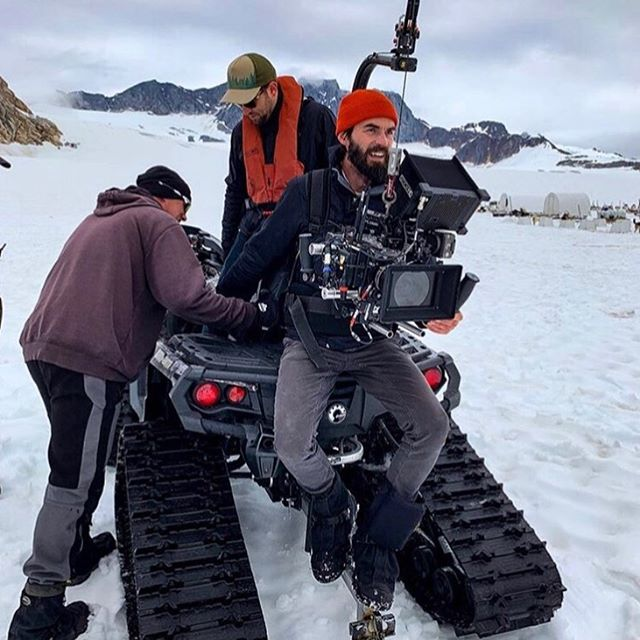 That's a wrap in Alaska! Here's a snap of Director @rrroaminggg and DP @professorweldini filming at a sled dog camp atop a mountain, on an ancient glacier in Skagway, Alaska this week. This is part of a multi-park campaign for @goparks .  Special thanks to @panavisionofficial and @temscohelicopters for the support! . 📷 : @fitztheworldcitizen