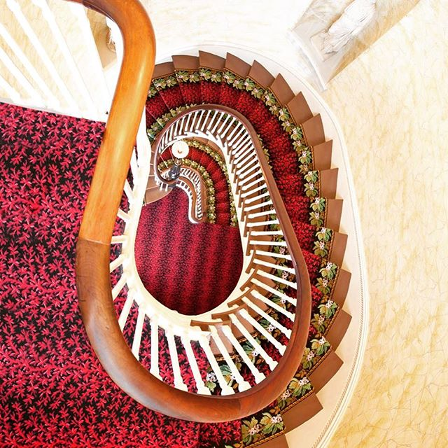 Is there anything better than a sweet spiral staircase? (The answer is no.) #200yearsat12andClay #House200 #historicarchitecture
