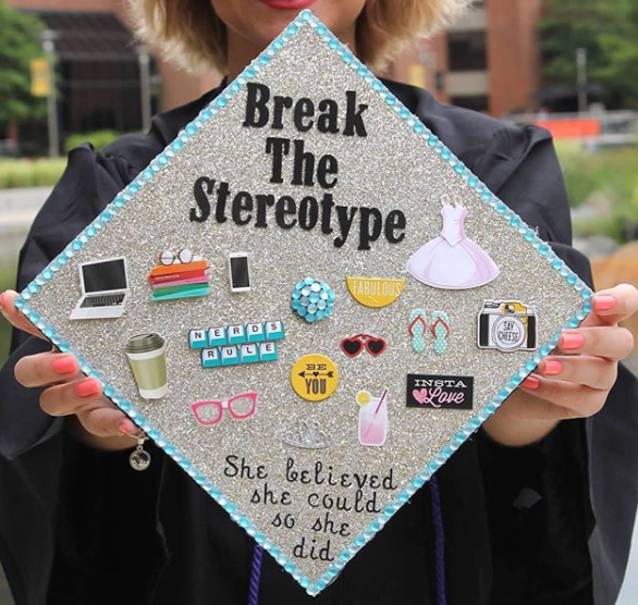 Fill in the blank: You can be _____ and also a computer scientist. Examples: a woman, a model, girly, a socialite, attractive 📷: @steph_saloka#breakthestereotype #fightthestereotype#womeninstem #coder -
