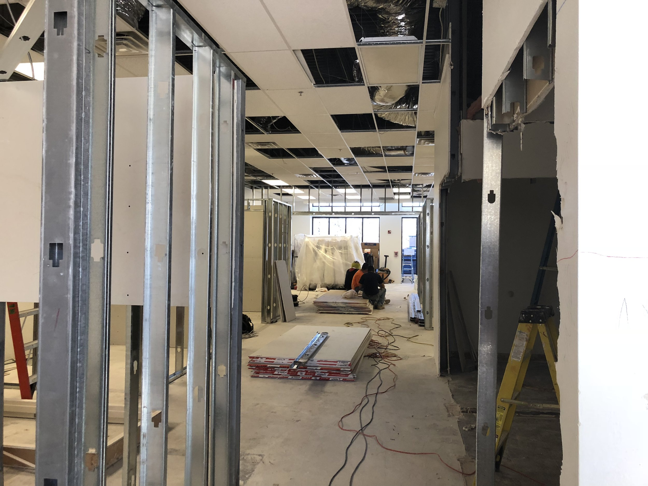 remodeling our bridal shop in Albuquerque