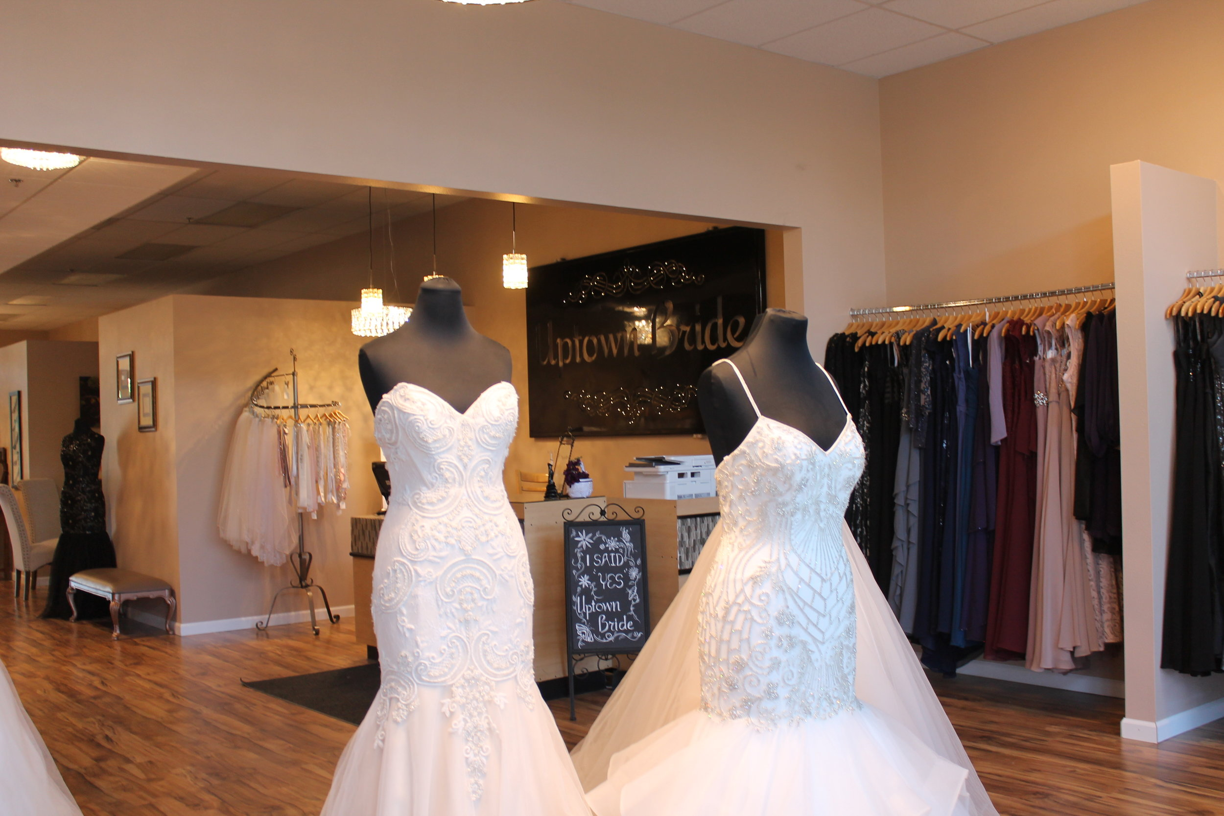 We're officially open here at Uptown Bride!